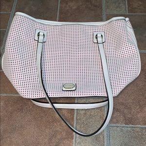kate landry white over the shoulder bag